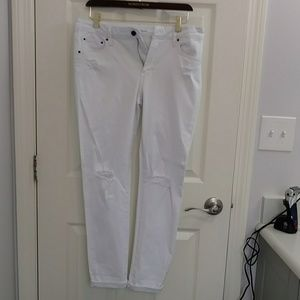 Nwot white ankle skinny jeans